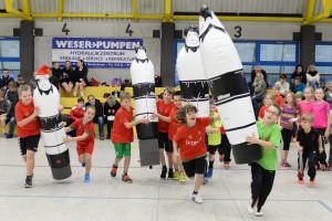 Airbodys im Einsatz anlässlich unserem weihnachtlichen Handballtag